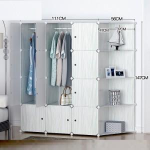 lemari susun rak furniture baju pakaian buku anti air vintage storage