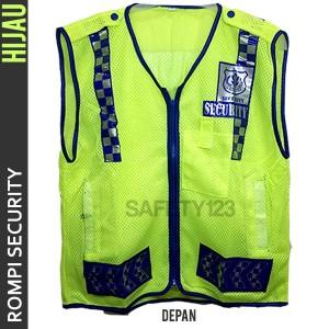 Rompi Jaring Satpam Security Vest Bagus Hijau Stabilo Murah