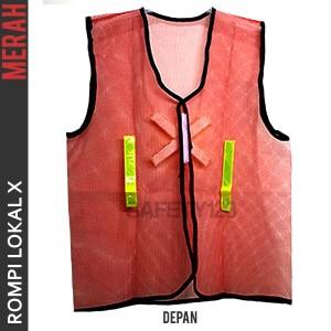 Rompi Lokal X Merah Safety Vest Jaring Scotlite Scotlight Murah