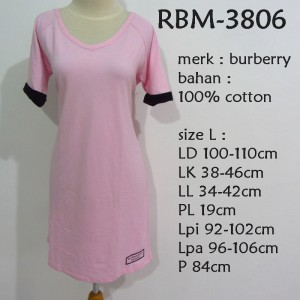 DRESS BURBERRY BIGSIZE JUMBO RBM-3806 (PILIH SIZE)