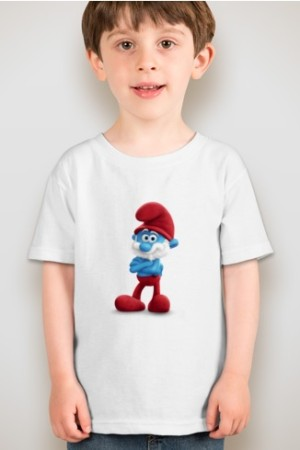 Kaos Anak - Kaos Anak Unisex - Kaos Kids Smurf Papa Smurf