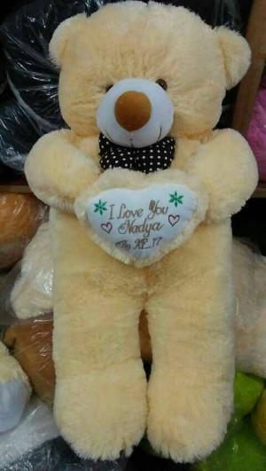 Boneka teddy bear cossy bordir nama ukuran 1 meter