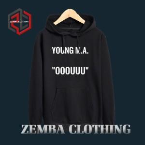 Hoodie Young MA OOOUUU - HItam - ZEMBA CLOTHING