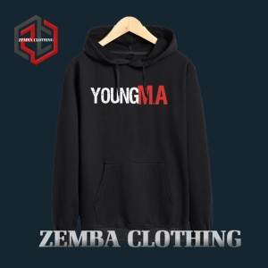 Hoodie Young MA - HItam - ZEMBA CLOTHING