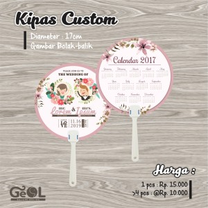 Kipas Custom | Souvenir Kipas | Wedding