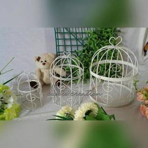 sangkar / birdcage untuk hiasan rumah / hantaran d.7cm, cuwie creation