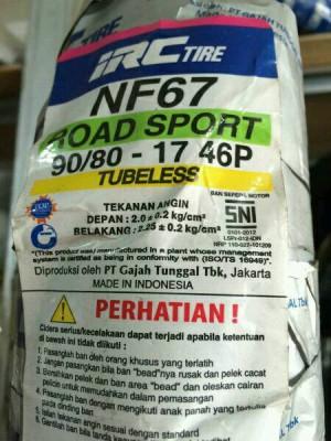 IRC 90/80-17 NF67 TL