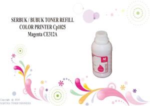 SERBUK / BUBUK TONER REFILL COLOR PRINTER Cp1025 Magenta CE312A