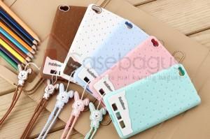 Fabitoo Cute Bunny Case TPU Silicon Soft Case Premium Xiaomi Redmi 3