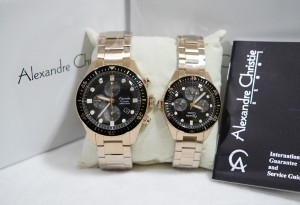 Alexandre Christie AC 6442 Couple Rose gold