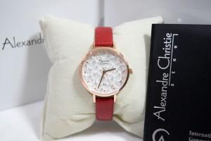 Alexandre Christie AC 2628 Rose Gold Red Ladies