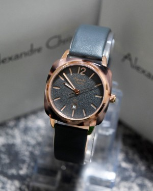 Alexandre Christie AC 6440 Rose Gold Strap Grey Ladies