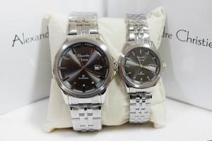 Alexandre Christie AC 8402 Couple Silver Black