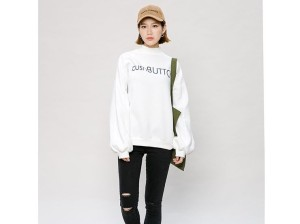 Sweater Top - Atasan Pakaian Wanita White Push Button 329477