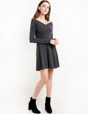 Dress - Pakaian Terusan Wanita Dark Gray (XL) 329394