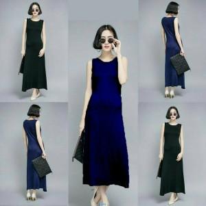 Long dress angela-dress 2warna-dress panjang-fashion wanita-sale-SR