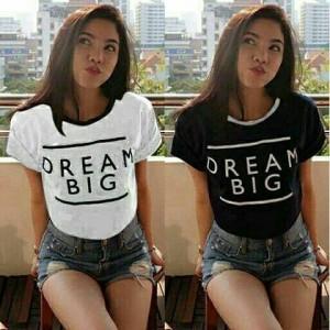 #UU DREAM BIG CROP 46.000 Bahan Spandek Soft,Fit L