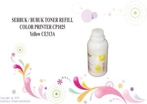 SERBUK / BUBUK TONER REFILL COLOR PRINTER CP1025 Yellow CE313A