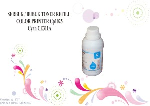 SERBUK / BUBUK TONER REFILL COLOR PRINTER Cp1025 Cyan CE311A