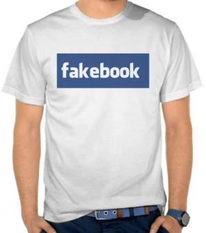 Kaos Fakebook - Parodi Logo Facebook (NMUX)