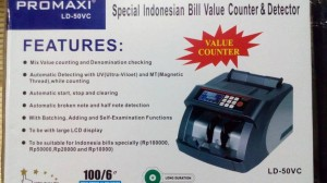 Mesin hitung uang Promaxi Ld50Vc