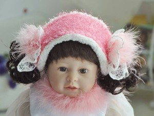 grosir pink cute baby accessories (ear warmers)