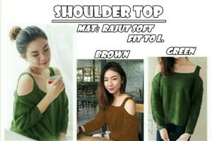 BC- Shoulder Top BG 43.000 Bahan rajut soft fit to L ready!!