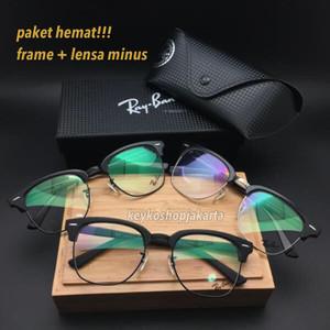 free lensa minus - frame kacamata pria wanita vintage 5154 premium