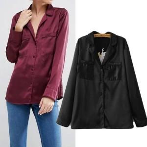 Atasan Top Blouse-Baju Wanita-Multicolor Silk Embroidery-Formal 42430
