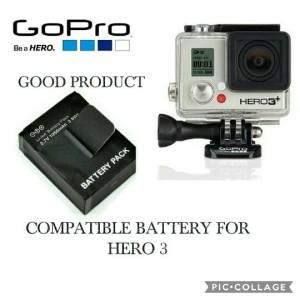 GOPRO HERO 3 3+ COMPATIBLE BATTERY BATERAI