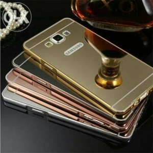 Bumper Mirror Samsung E5 / Aluminium / Slide / backcase Murah
