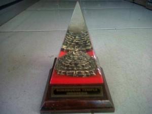 Miniatur Borobudur in Piramida