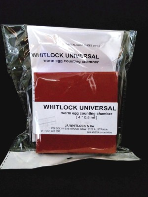 Whitlock Universal worm egg counting chamber 4x 0.5 ml