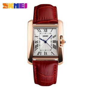 Promo Murah SKMEI Fashion Casual Ladies Leather Strap Watch - 1085CL -