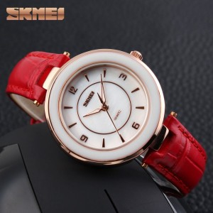 Promo Murah SKMEI Fashion Casual Ladies Leather Strap Watch - 1059CL -