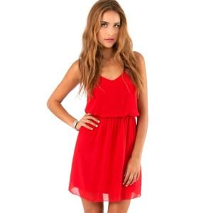 Promo Murah Dress Wanita Casual Summer Style - S - Merah
