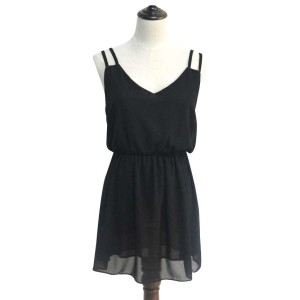 Promo Murah Dress Wanita Casual Summer Style - M - Hitam