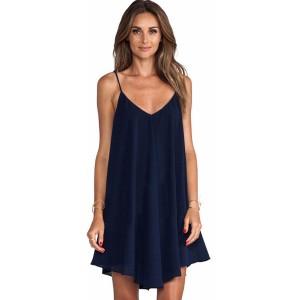 Promo Murah Dress Wanita Size M - M - Biru Gelap