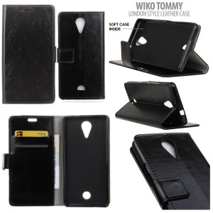 Wiko Tommy - London Style Leather Case