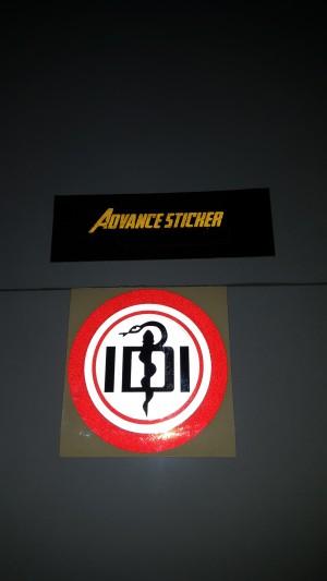 stiker/ sticker mobil logo IDI full warna