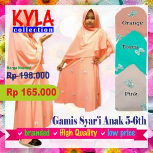 gamis anak / busana muslim anak perempuan / gamis syari anak / fashion