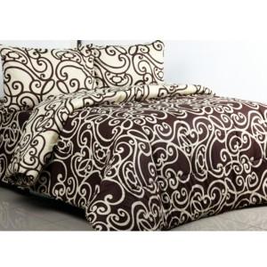 Ellenov Sprei + Bedcover Teralis Coklat Krem Extra Single(90x200x20cm)