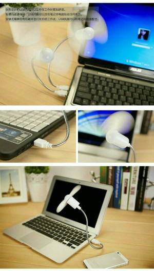 kipas angin usb portable untuk laptop powerbank travel mini