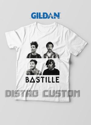 Kaos Bastille Band - Original Gildan T shirt
