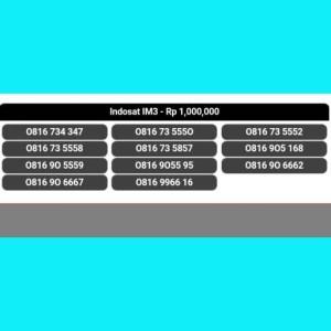 Nomor cantik/indosat im3/4g/10 digit(0816 9966 16)super hoki,,