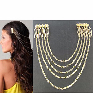 rantai kepala 5 rantai emas/ gold head chain 5 layer JRA002