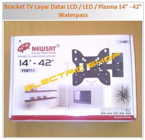 "Bracket TV Layar Datar LCD / LED / Plasma 14"" - 42"" Waterpass"