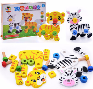 Merangkai Binatang Kayu Dengan Baut Educational Toys Mainan Anak ME078