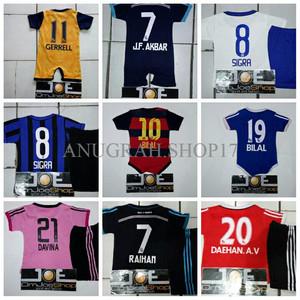Setelan Kaos Baju Bola Bayi Anak AC Milan Home 16/17