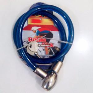 Kunci Gembok Sepeda Kepala Besi Pengaman Helm